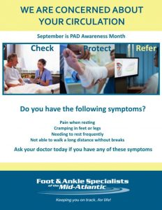 PAD awareness month Peripheral Arterial Disease Feet Disease Foot Doctors