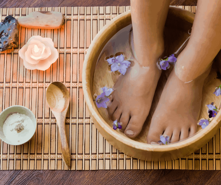 diy at home spa and foot care
